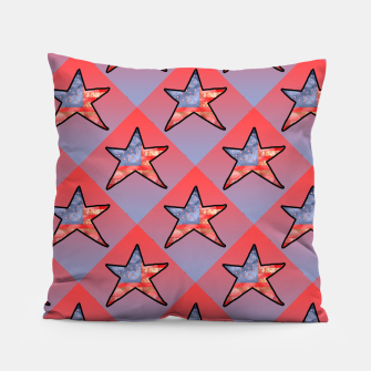 Thumbnail image of American Flag Star Pillow, Live Heroes