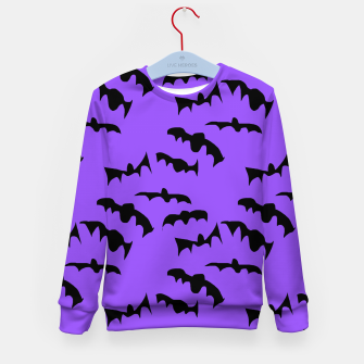 Thumbnail image of Bats Pattern Kid's sweater, Live Heroes