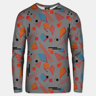 Imagen en miniatura de Abstract modern memphis geometric shapes stripes lines triangles Unisex sweater, Live Heroes