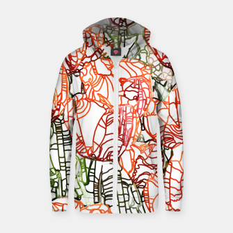 Thumbnail image of Tulip Garden Zip up hoodie, Live Heroes