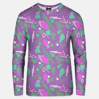 Miniaturka Memphis geometric abstract violet shapes stripes lines Unisex sweater, Live Heroes