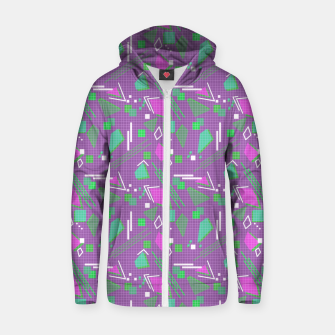 Miniaturka Memphis geometric abstract violet shapes stripes lines Zip up hoodie, Live Heroes