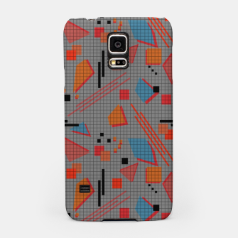 Imagen en miniatura de Abstract modern memphis geometric shapes stripes lines triangles Samsung Case, Live Heroes