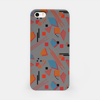 Imagen en miniatura de Abstract modern memphis geometric shapes stripes lines triangles iPhone Case, Live Heroes