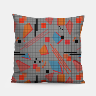 Miniaturka Abstract modern memphis geometric shapes stripes lines triangles Pillow, Live Heroes