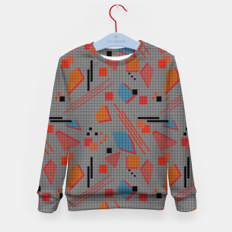 Imagen en miniatura de Abstract modern memphis geometric shapes stripes lines triangles Kid's sweater, Live Heroes