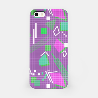 Miniaturka Memphis geometric abstract violet shapes stripes lines iPhone Case, Live Heroes