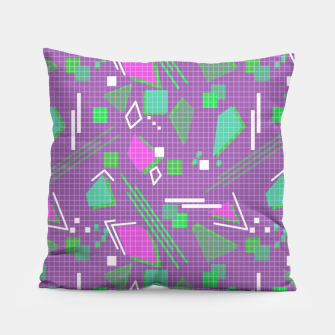 Miniaturka Memphis geometric abstract violet shapes stripes lines Pillow, Live Heroes