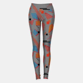 Miniaturka Abstract modern memphis geometric shapes stripes lines triangles Leggings, Live Heroes