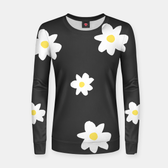 Thumbnail image of Minimalist Daisies Women sweater, Live Heroes