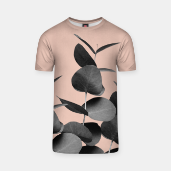 Miniaturka Eucalyptus Leaves Black Gray White Pale Terracotta #1 #foliage #decor #art  T-Shirt, Live Heroes
