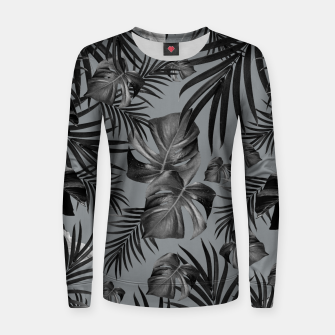 Thumbnail image of Tropical Jungle Night Leaves Pattern #6 (2020 Edition) #tropical #decor #art Frauen sweatshirt, Live Heroes