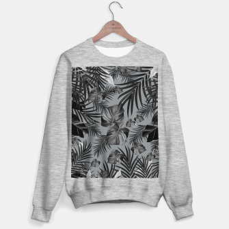 Thumbnail image of Tropical Jungle Night Leaves Pattern #6 (2020 Edition) #tropical #decor #art Sweatshirt regulär, Live Heroes