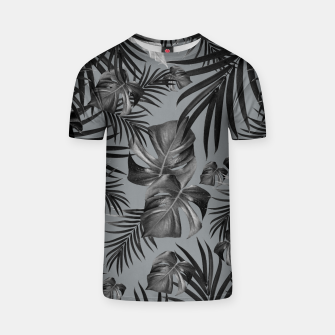 Thumbnail image of Tropical Jungle Night Leaves Pattern #6 (2020 Edition) #tropical #decor #art T-Shirt, Live Heroes
