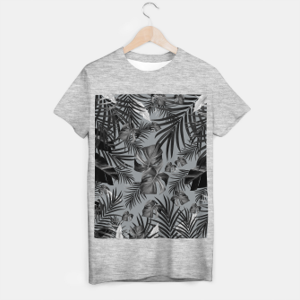 Thumbnail image of Tropical Jungle Night Leaves Pattern #6 (2020 Edition) #tropical #decor #art T-Shirt regulär, Live Heroes