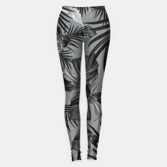 Thumbnail image of Tropical Jungle Night Leaves Pattern #6 (2020 Edition) #tropical #decor #art Leggings, Live Heroes
