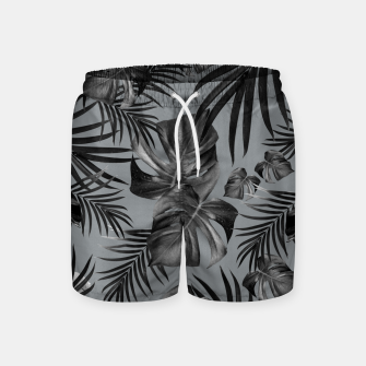 Thumbnail image of Tropical Jungle Night Leaves Pattern #6 (2020 Edition) #tropical #decor #art Badeshorts, Live Heroes