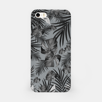 Thumbnail image of Tropical Jungle Night Leaves Pattern #6 (2020 Edition) #tropical #decor #art iPhone-Hülle, Live Heroes