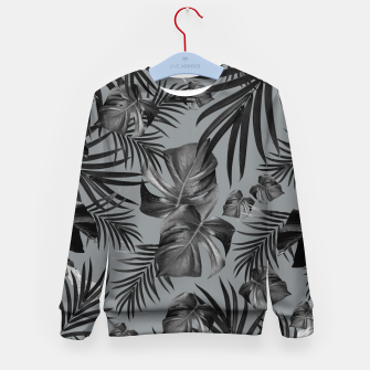 Thumbnail image of Tropical Jungle Night Leaves Pattern #6 (2020 Edition) #tropical #decor #art Kindersweatshirt, Live Heroes