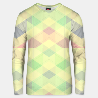 Imagen en miniatura de Warm morning  pink , delicate pastel modern geoametrical stylish summer colors Unisex sweater, Live Heroes