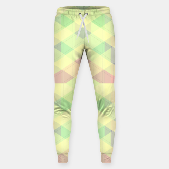 Imagen en miniatura de Warm morning  pink , delicate pastel modern geoametrical stylish summer colors Sweatpants, Live Heroes