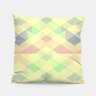 Thumbnail image of Warm morning  pink , delicate pastel modern geoametrical stylish summer colors Pillow, Live Heroes