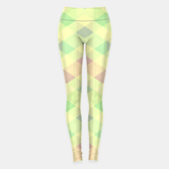 Imagen en miniatura de Warm morning  pink , delicate pastel modern geoametrical stylish summer colors Leggings, Live Heroes
