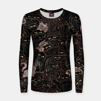 Thumbnail image of Black Cats Pattern Women sweater, Live Heroes