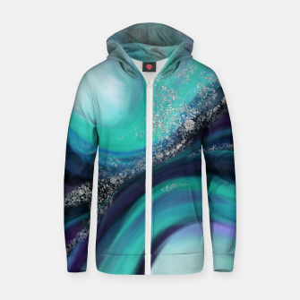 Thumbnail image of Arctic Azure I Zip up hoodie, Live Heroes