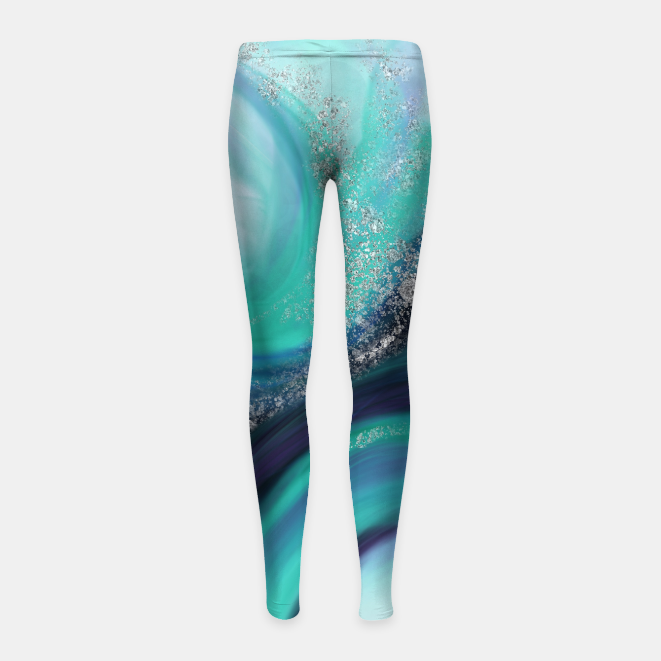 Image of Arctic Azure I Girl's leggings - Live Heroes