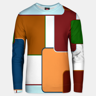 Thumbnail image of Retro squares on white Sudadera unisex, Live Heroes