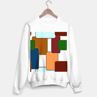 Miniature de image de Retro squares on white Sudadera regular, Live Heroes