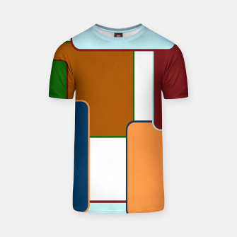 Thumbnail image of Retro squares on white Camiseta, Live Heroes