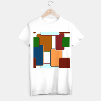 Thumbnail image of Retro squares on white Camiseta Regular, Live Heroes