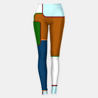Thumbnail image of Retro squares on white Leggings, Live Heroes