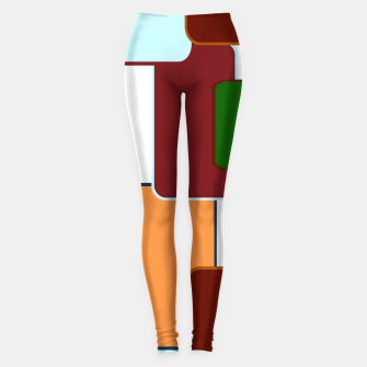 Miniature de image de Retro squares on white Leggings, Live Heroes