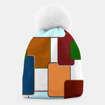 Thumbnail image of Retro squares on white Gorro, Live Heroes