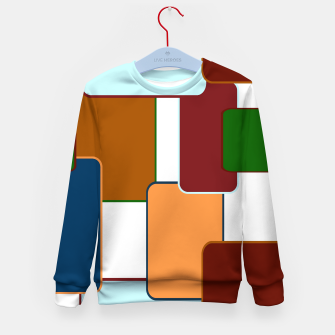 Thumbnail image of Retro squares on white Sudadera para niños, Live Heroes