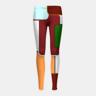 Miniature de image de Retro squares on white Leggings para niña, Live Heroes