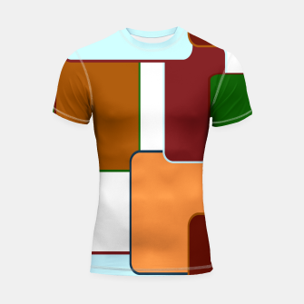 Thumbnail image of Retro squares on white Shortsleeve rashguard, Live Heroes