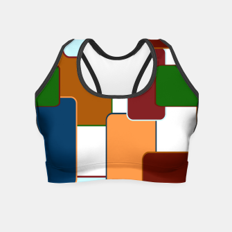 Thumbnail image of Retro squares on white Crop Top, Live Heroes