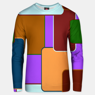 Thumbnail image of Retro squares on purple Sudadera unisex, Live Heroes