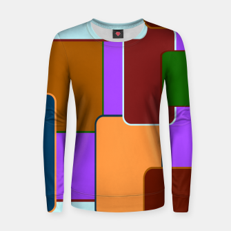 Thumbnail image of Retro squares on purple Sudadera para mujeres, Live Heroes