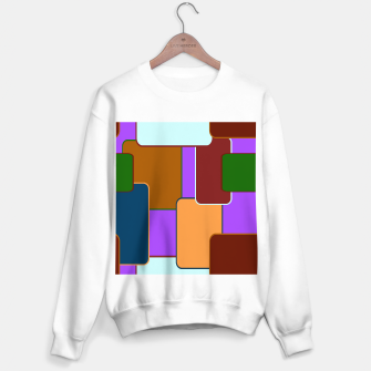 Miniature de image de Retro squares on purple Sudadera regular, Live Heroes