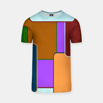 Retro squares on purple Camiseta miniature