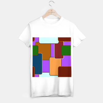 Retro squares on purple Camiseta Regular miniature