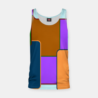 Miniature de image de Retro squares on purple Camiseta de tirantes, Live Heroes