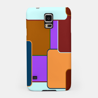 Retro squares on purple Carcasa por Samsung miniature