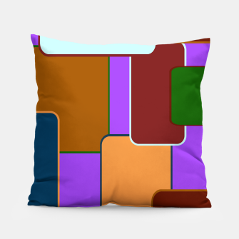 Miniature de image de Retro squares on purple Almohada, Live Heroes