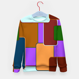 Thumbnail image of Retro squares on purple Sudadera para niños, Live Heroes